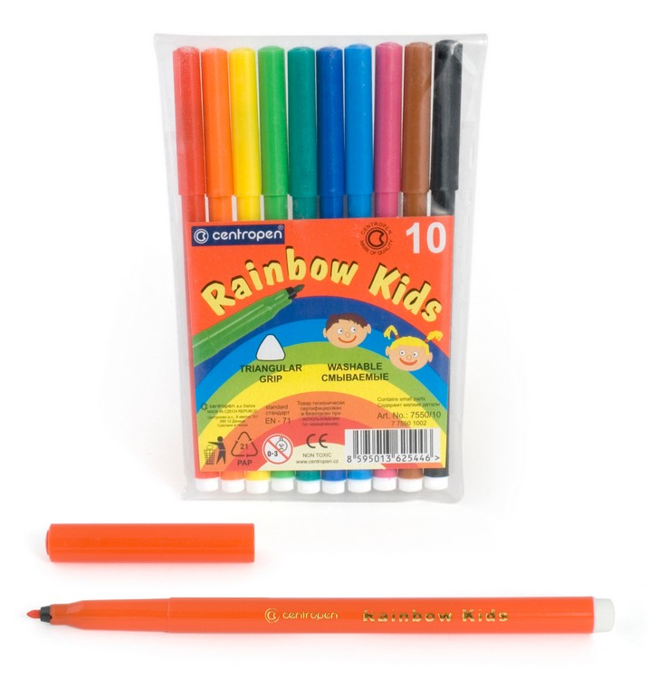 Фломастеры Centropen Rainbow Kids, арт. 7550/10