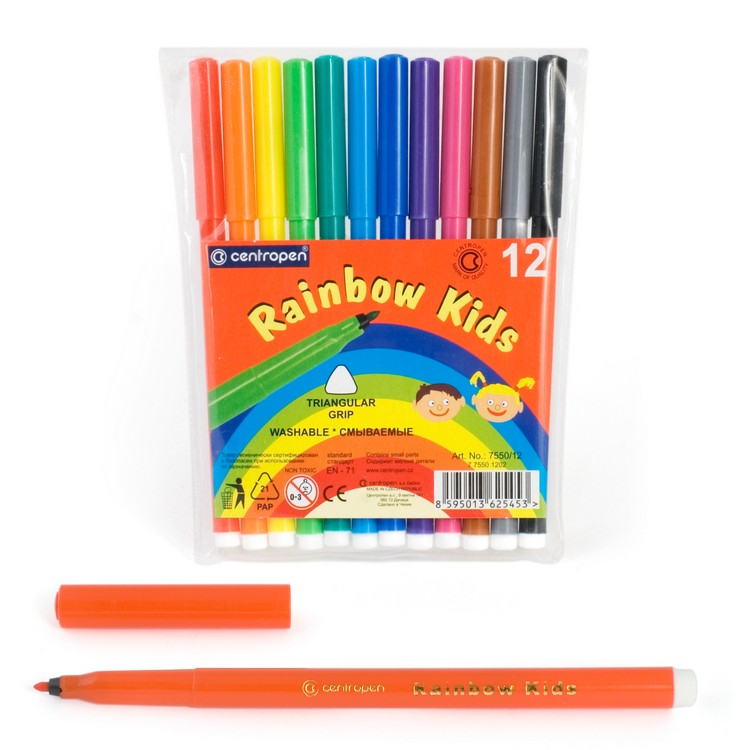 Фломастеры Centropen Rainbow Kids, арт. 7550/12