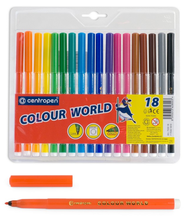 Фломастеры Centropen Colour World, арт. 7550/18 ТР