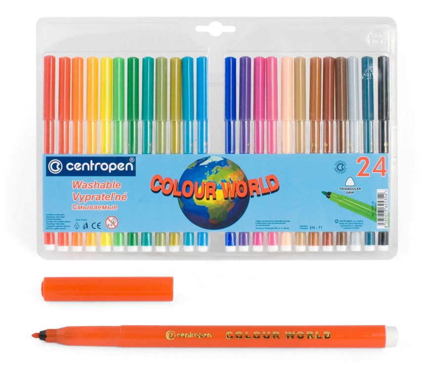 Фломастеры Centropen Colour World, арт. 7550/24 ТР