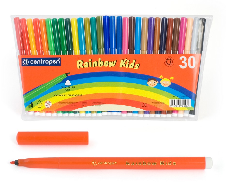 Фломастеры Centropen Rainbow Kids, арт. 7550/30