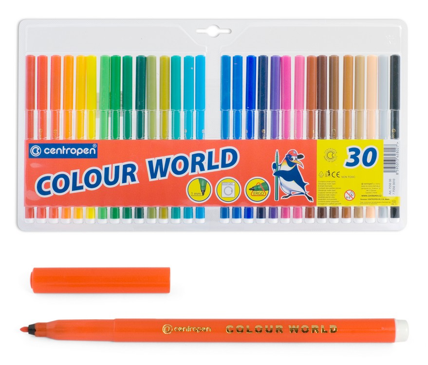 Фломастеры Centropen Colour World, арт. 7550/30 ТР