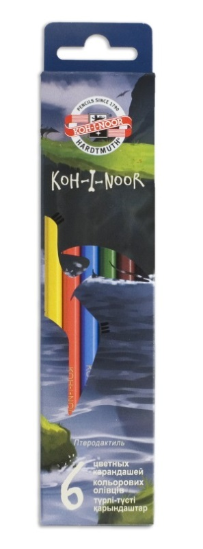 Карандаши цветные Koh-i-Noor DINO, арт. 3591/6 Dino