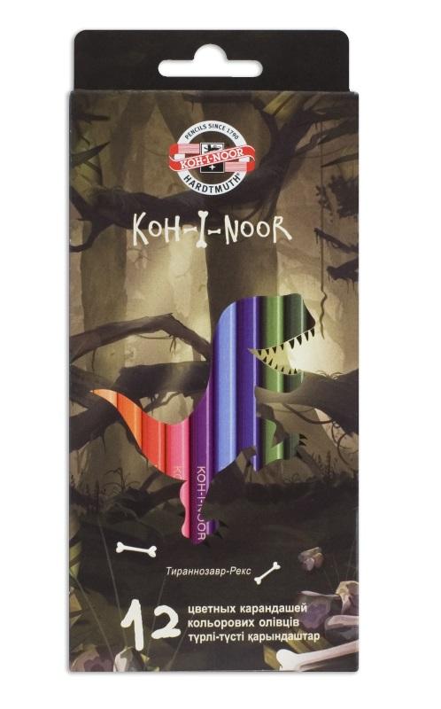 Карандаши цветные Koh-i-Noor DINO, арт. 3592/12 Dino