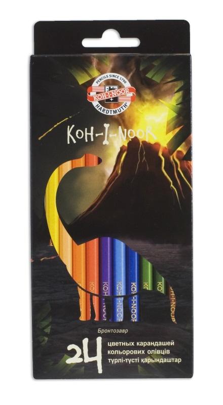 Карандаши цветные Koh-i-Noor DINO, арт. 3593/24 Dino