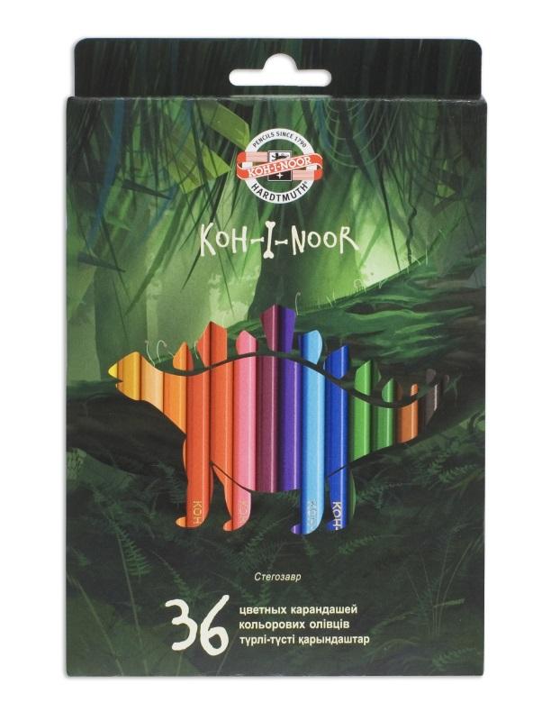 Карандаши цветные Koh-i-Noor DINO, арт. 3594/36 Dino