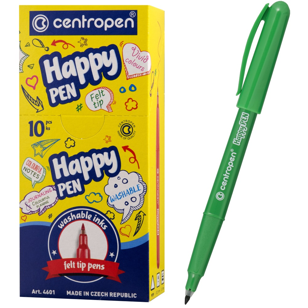Линер Centropen Happy Pen, арт. 4601/1 зел.