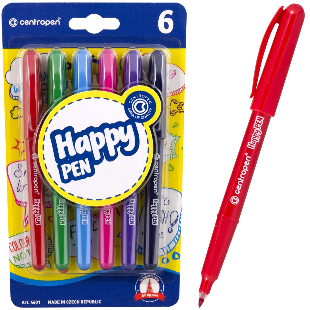 Линеры Centropen Happy Pen, арт. 4601/6 BL
